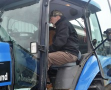 Donnelly in the tractor