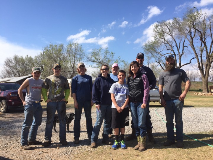 Group shot after a day working with John Kellenberger D.V.M. and his fantastic family.