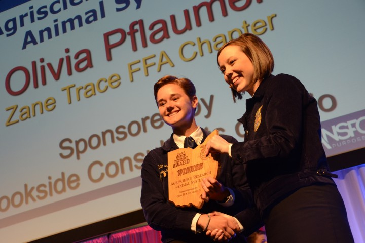 Agriscience Research Animal Systems Olivia Pflaumer Zane Trace FFA