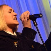 Macey Butchko from Firelands wowed the crowd with her vocal performance.