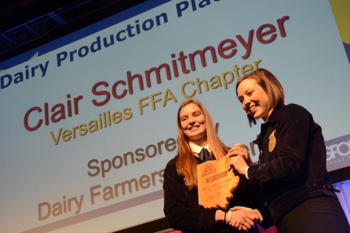 Dairy Production Placement Clair Schmitmeyer Versailles FFA
