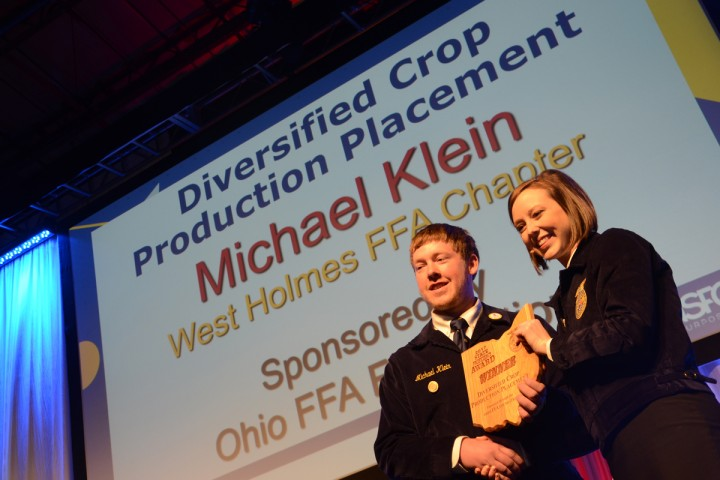 Diversified Crop Production Placement Michael Klein West Holmes FFA