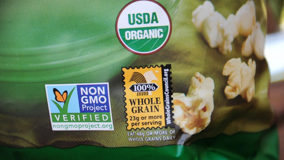 Image result for Consumers see 'organic' and 'non-GM' food labels as synonymous